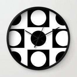 Minimal Abstract Black White 09 Wall Clock