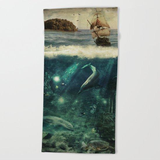Water World Fantasy Scenery Beach Towel