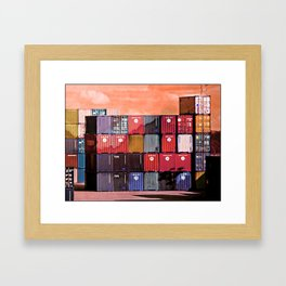 Colorful containers I Framed Art Print