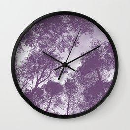 Forest view - lilac Wall Clock