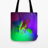 pills Tote Bags featuring Pills by Mingo