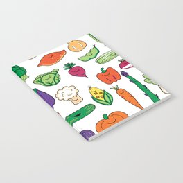Cute Smiling Happy Veggies on white background Notebook