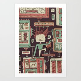 Everything you always wanted to know about mobile communication but where afraid to ask Art Print