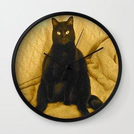 Cat-Sitting Wall Clock