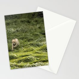 Happiness is Running Through a Field of Grass Stationery Cards