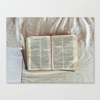 bible Canvas Prints featuring Bible by DavidElSquid