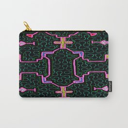 Song for Haromony - Traditional Shipibo Art - Indigenous Ayahuasca Patterns Carry-All Pouch