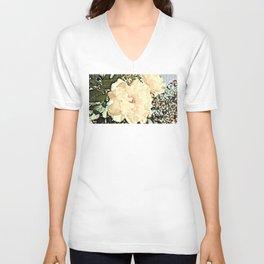 Sandy Pink Roses With Bokeh Unisex V-Neck