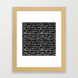 Hand Written Sheet Music // Black Framed Art Print