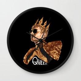 Queen Bill - White Text Wall Clock