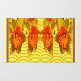 Golden Daffodils Pattern Rug