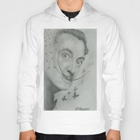 salvador dali Hoodies featuring Salvador Dali  by KennethShaw
