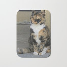 Peaceful Calico Cat Bath Mat