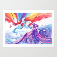 mlp Art Prints featuring MLP by Cari Corene
