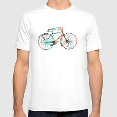 Bicycle MEDIUM White Mens Fitted Tee