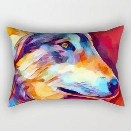 Wolf Portrait 2 Rectangular Pillow