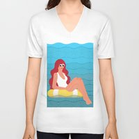 sunshine V-neck T-shirts featuring Sunshine by James Boast