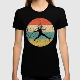 Javelin Throw Vintage Retro Track And Field T-shirt