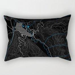 Aspen Topography Map Rectangular Pillow