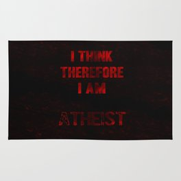 I think therefore I am Atheist Rug