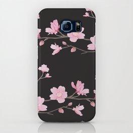 Cherry Blossom - Black iPhone Case