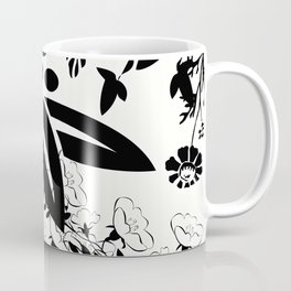 Damask Black and White Toile Floral Graphic Coffee Mug