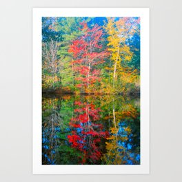 Berkshires Reflection Art Print