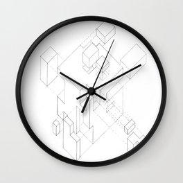 Split Cube Wall Clock