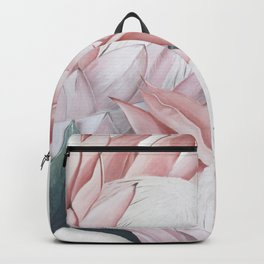 Protea Painting. Pink Protea Print Backpack