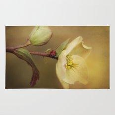 Ladybird on flower Rug