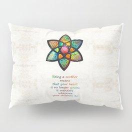 Mother Mom Art - Wandering Heart - By Sharon Cummings Pillow Sham