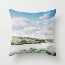 A Bend in the Yellowstone Throw Pillow