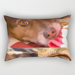 Portrait of a loyal and friend dog Rectangular Pillow