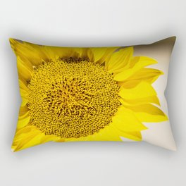 Sunflower (Helianthus Anuus) in the morning sun is a sign of the bright colors of Summer. Rectangular Pillow
