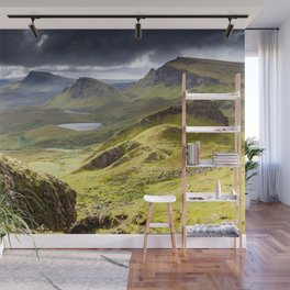 Quiraing on Isle of Skye in Scotland Wall Mural