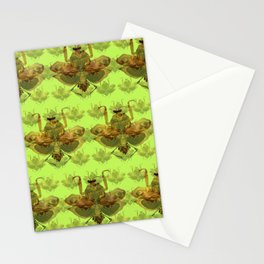 Giant Dead Leaf Mantis (Deroplatys desiccata) pattern Stationery Cards