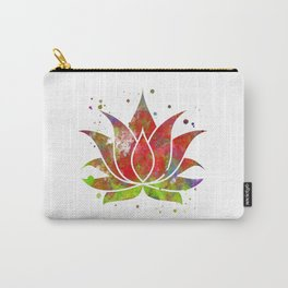 Colorful Lotus Flower Carry-All Pouch