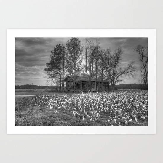 Hidden Home 2 in Black and White Art Print