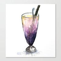 cocktail Canvas Prints featuring Cocktail  by Kayla Phan