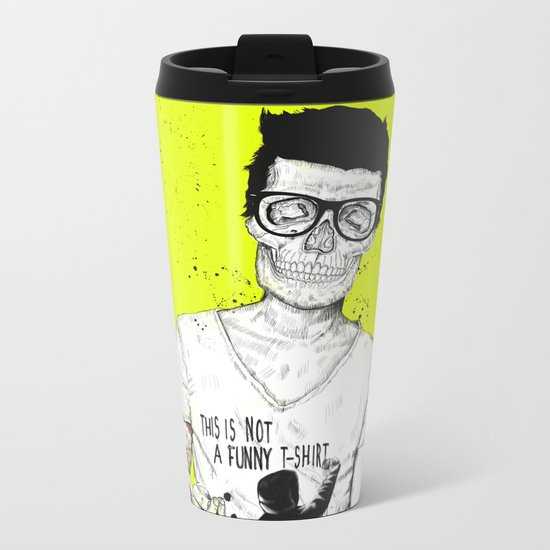hipsters not dead Metal Travel Mug