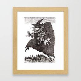Crossing The Time Framed Art Print