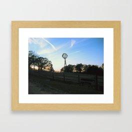 Ranch Sunsets Framed Art Print