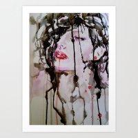 noir Art Prints featuring Noir by Lulicue
