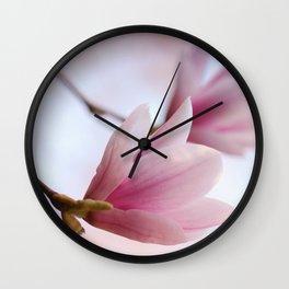 Magnolia flower macro 284 Wall Clock