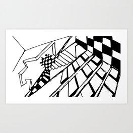 Broken Chess Art Print