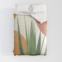 Abstract Agave Plant Comforters