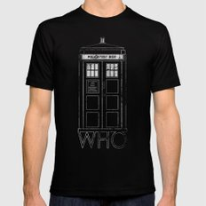 Doctor WHO LARGE Black Mens Fitted Tee