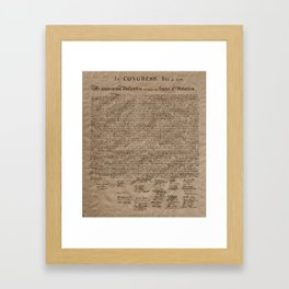 Declaration Framed Art Print