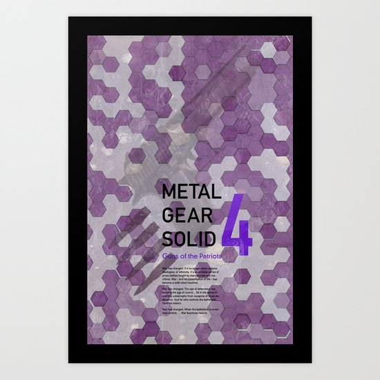 Metal Gear Solid 4: Guns of the Patriots Art Print