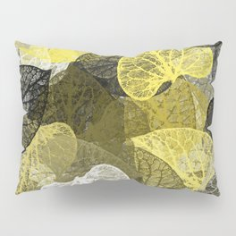 Black & Gold Leaf Abstract Pillow Sham